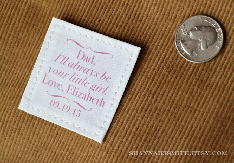 Mariage - Father of the Bride Gift • Tie Patch •  Dad Personalized Suit Label • Always Your Little Girl