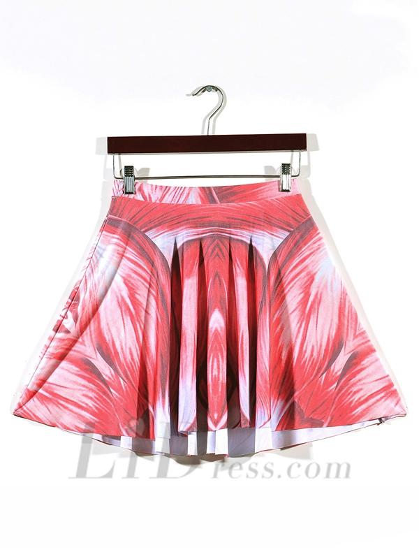 Wedding - Womens Boutique Digital Muscle Digital Print Skirt Pleated Skt1185