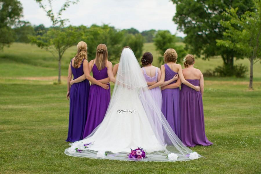 "Wedding - 20%OFF  Bridal Veil,Wedding Veil,2 tier Cathedral Length 30"" 108"",allover pearls or diamante,PENCIL Edge edge w loops & detachable comb"
