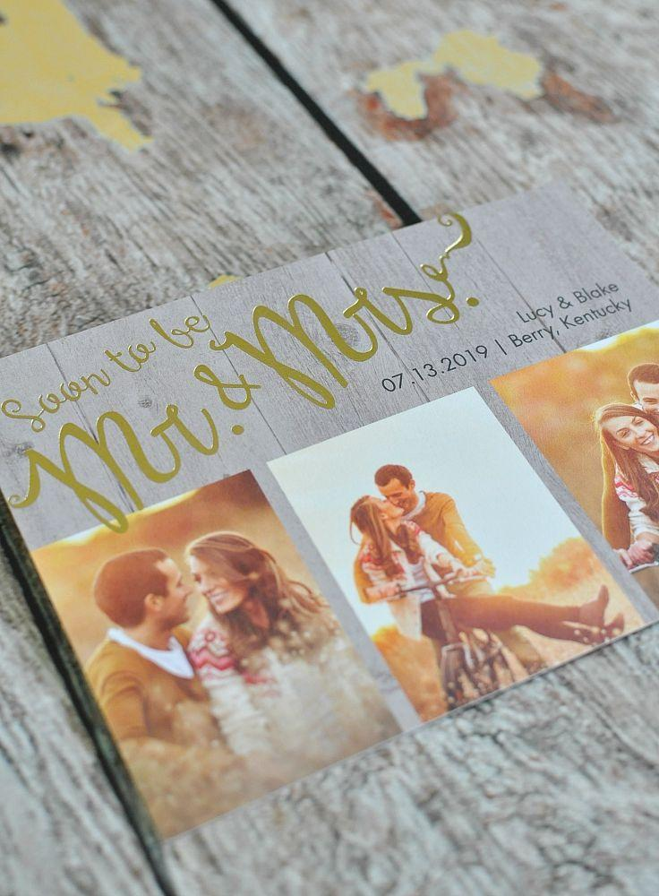 Mariage - Soon To Marry - Foil Save The Date Card