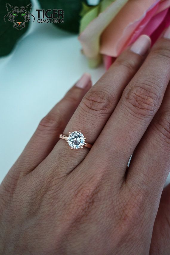 Solitaire Moissanite Ring Vs Solitaire Diamond Ring
