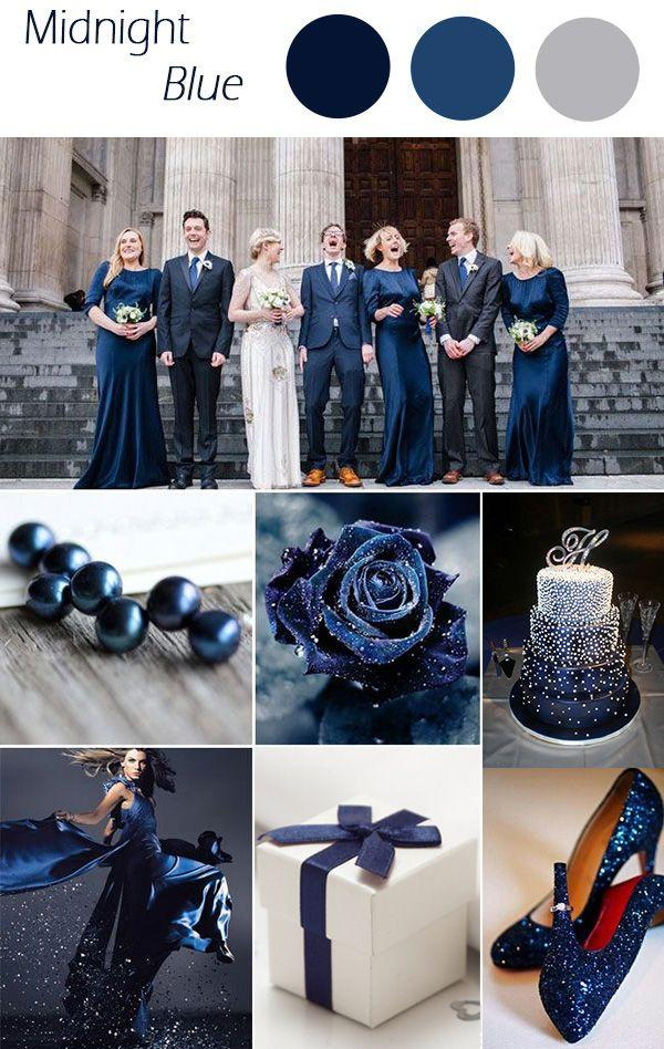 Midnight Blue Winter Wedding Colors 2015 Trends 2554956