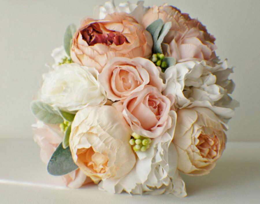 Wedding Flowers, Roses Bridal Bouquet, Silk Wedding Flowers, Roses ...