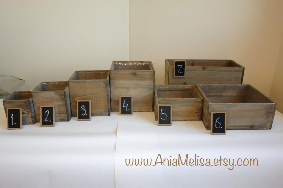 Wood Box Wood Boxes Woodland Planter Flower Rustic Pot Square Vases