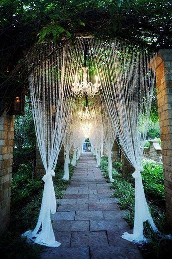 20 Creative Wedding Entrance Walkway Decor Ideas 2555032