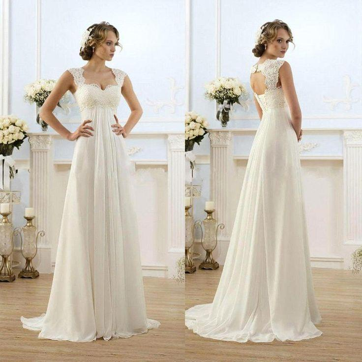 Empire Cut Vintage Wedding Dress
