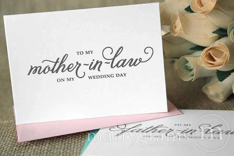 Wedding Gift For Mother In Law: Wedding Card To Your Future Mother-in-Law & Father In-Law