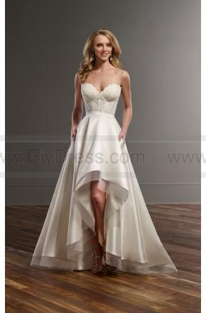 Hochzeit - Martina Liana Lace Corset And High-Low Skirt Wedding Separates Style Carmen   Sia