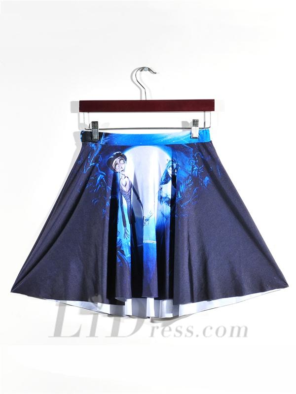 Hochzeit - Womens Hot Digital Printing Corpse Bride Pleated Skirt Skt1162