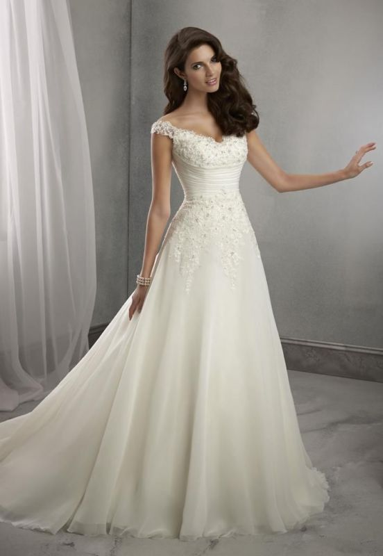 Hochzeit - 2016 New white/ivory Wedding Dress Bridal Gown Custom Size 6 8 10 12 14 16 18++