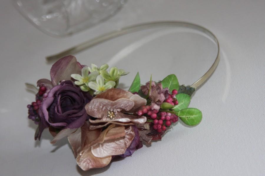 Mariage - Woodland wedding hair flowers, blush, Hydrangea blush fascinator, Bridal flowers, Mother of the bride, Wedding hair accessory, Barrette