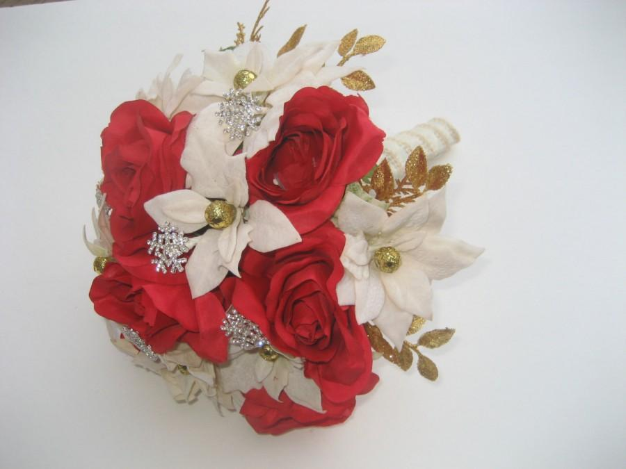 Mariage - Christmas Wedding Bouquet / Holiday Wedding Bouquet