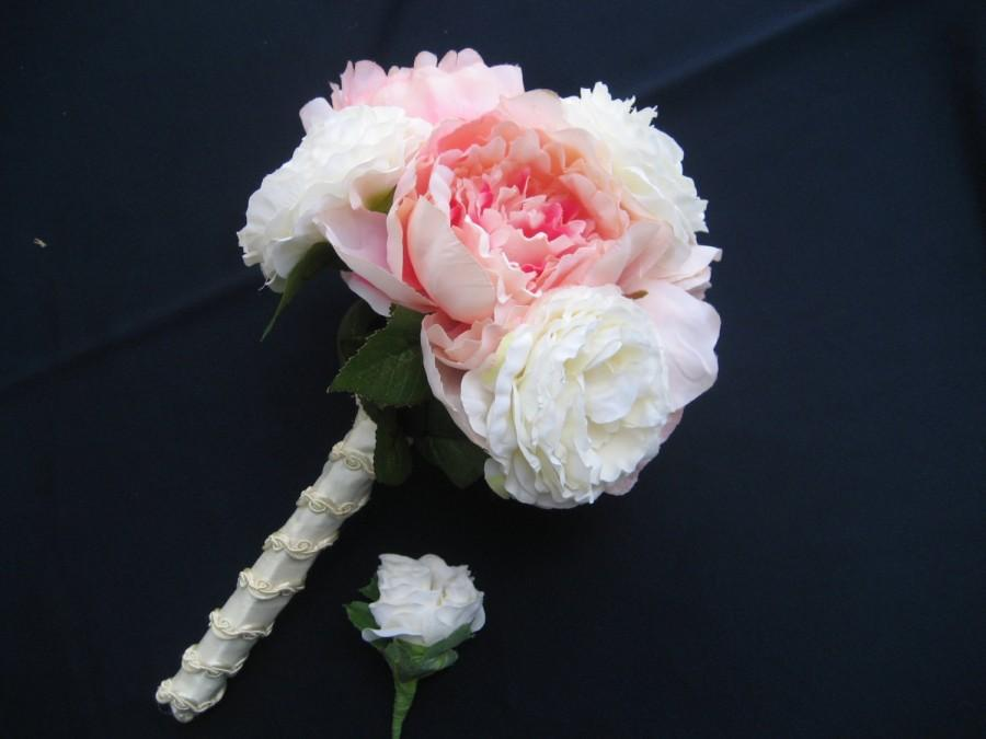 Mariage - Peonies and Garden Roses Wedding Bouquet
