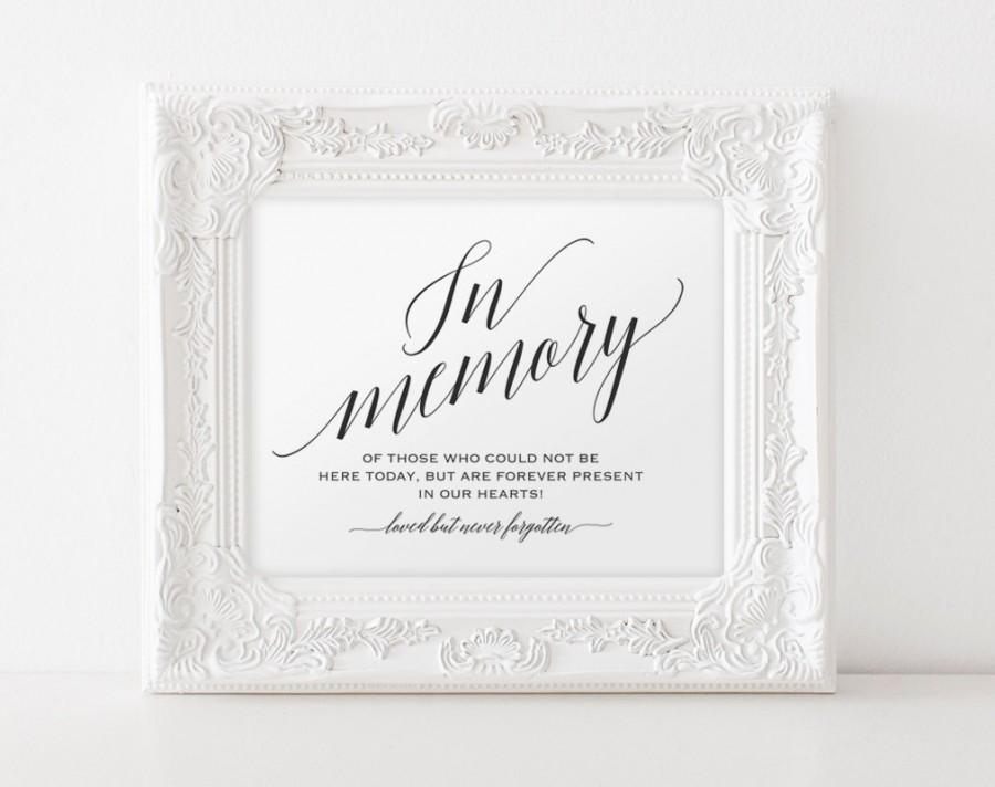 In memory sign in loving memory sign memory sign for In loving memory wedding sign