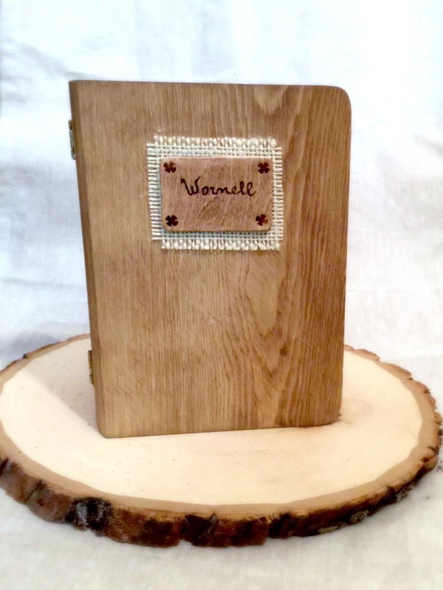 Wedding - Wedding Ring Box Wedding Ring Holder Ring Pillow Bearer Box with Personalized Barn Sign Wooden Burlap and Lace Mr and Mrs