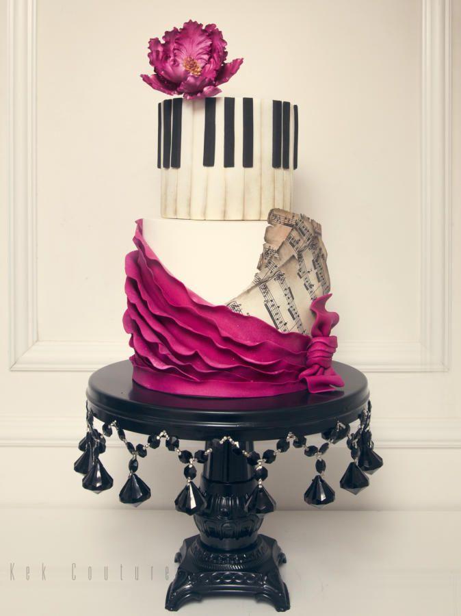 Hochzeit - Piano Cake