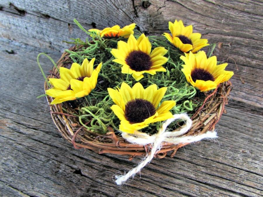 Sunflower Centerpiece Twig Birds Nest Decor Centerpiece Sunflower