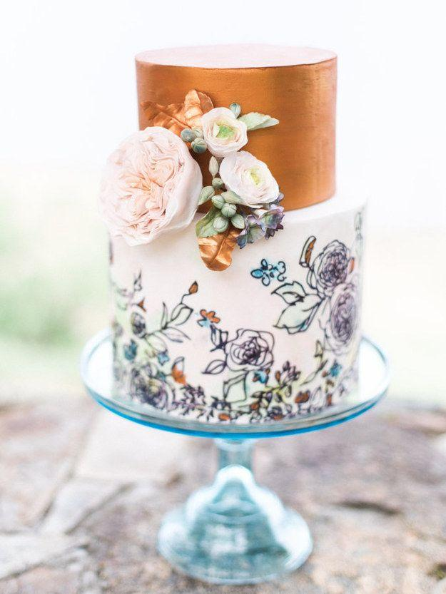 Hochzeit - 27 Gorgeous Wedding Cakes That Are Almost Too Pretty To Eat