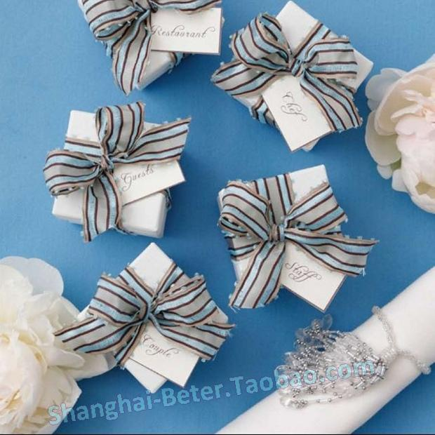Mariage - 婚礼创意喜糖盒袋包装麻绳牛皮纸DIY糖果盒HH043太妃糖盒子