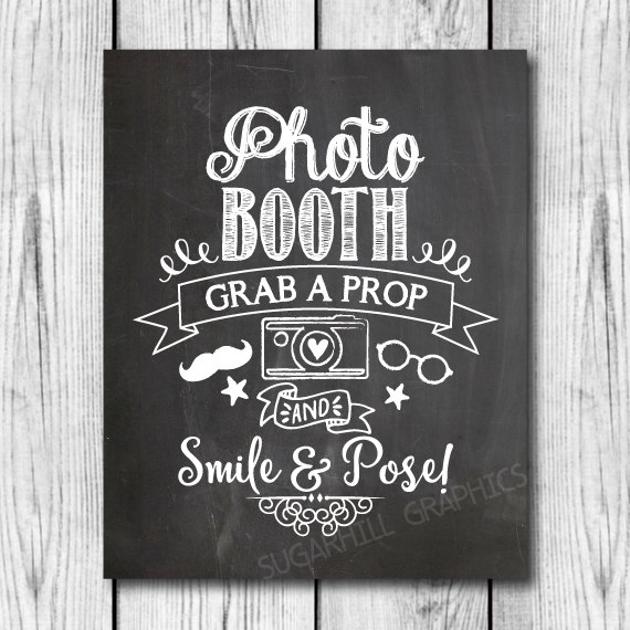 photograph relating to Photo Booth Sign Printable known as Chalkboard Wedding ceremony Signal, Printable Wedding ceremony Indicator, Chalkboard