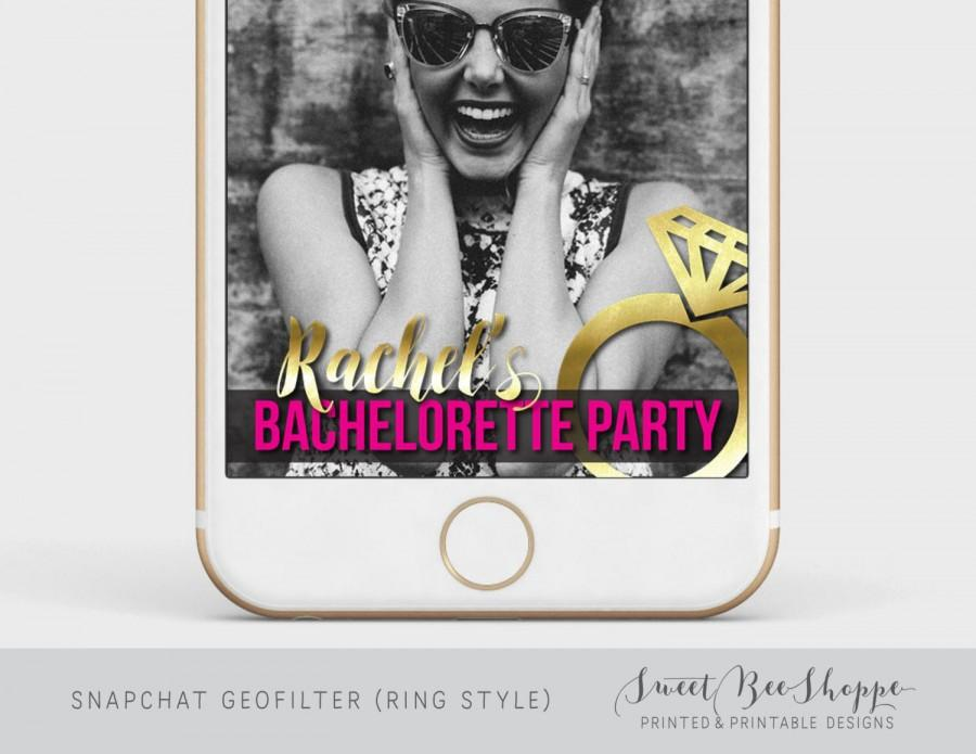 Mariage - Bachelorette Snapchat Geofilter, Custom Snapchat Geofilter for Bachelorette Party, Glitter Snapchat Filter, Snapchat Graphics,
