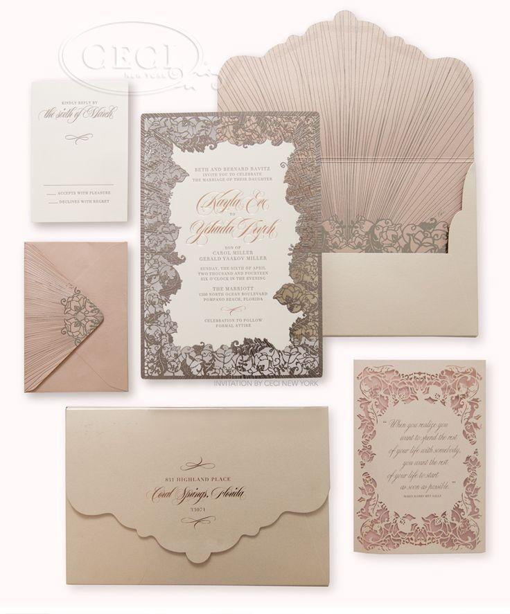 زفاف - V201: Our Muse – Blush And Pewter Wedding: Kayla & Hudi, Part 1 :: CeciStyle :: Ceci New York