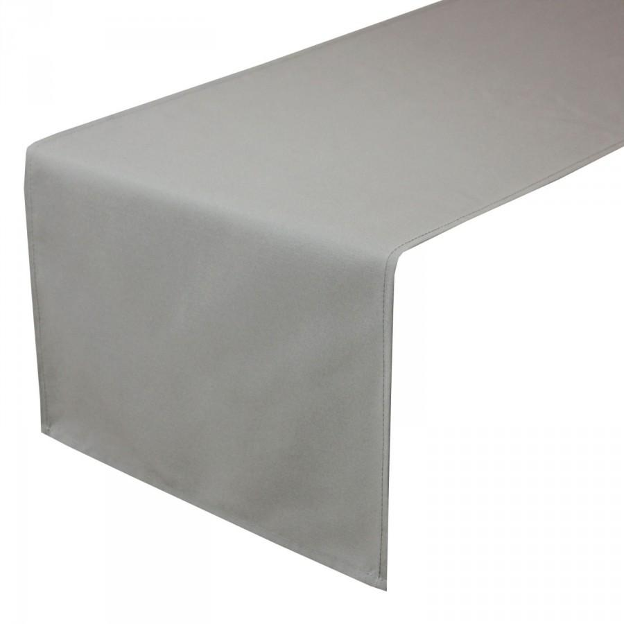 Wedding - 14 x 108 inches Gray Table Runner