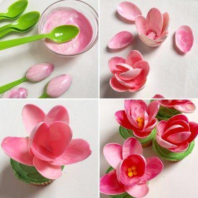 Hochzeit - PINK CHOCOLATE MAGNOLIA CUPCAKES!!!