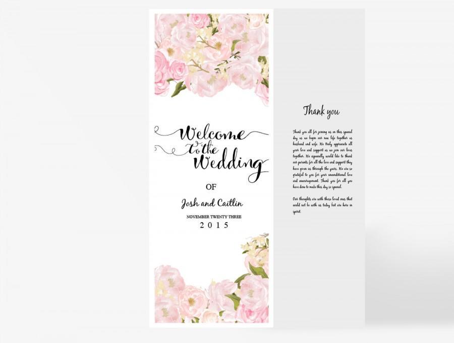 Einladung - Wedding Program Template #2555771 - Weddbook