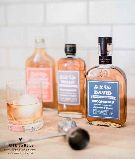 "Свадьба - Custom ""Will You Be My Groomsman"" Bottle Label, For Whiskey, Gin, Bourbon - Best Man Label - Groomsmen Gift - Best Man Gift - Whisky Gift"