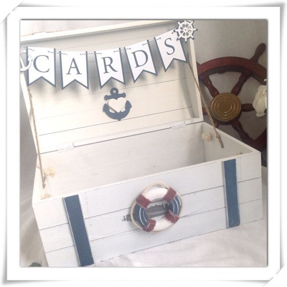 Hochzeit - Wedding Card Holder - Nautical Or Beach Theme Wedding Or Event