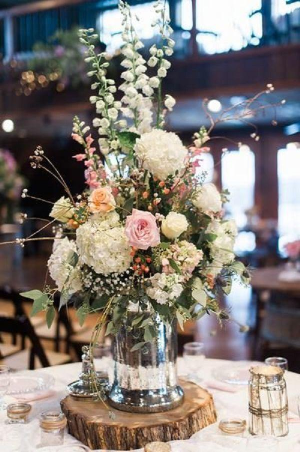 Mason Jar Wedding Centerpieces.Rustic Wildflowers In Mason Jar Wedding Centerpiece 2555807 Weddbook