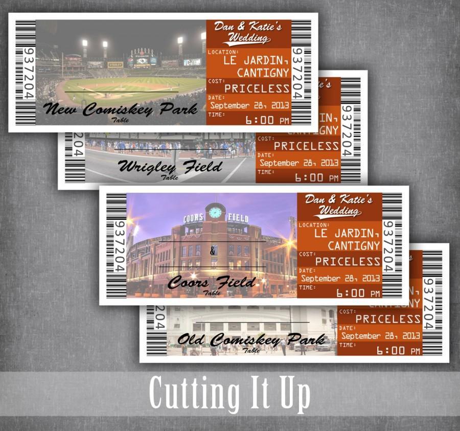 زفاف - Baseball Wedding Escort Cards, Seating Cards, Baseball Tickets, Baseball Reception, Sports Wedding, Basketball, Softball, DIY Template