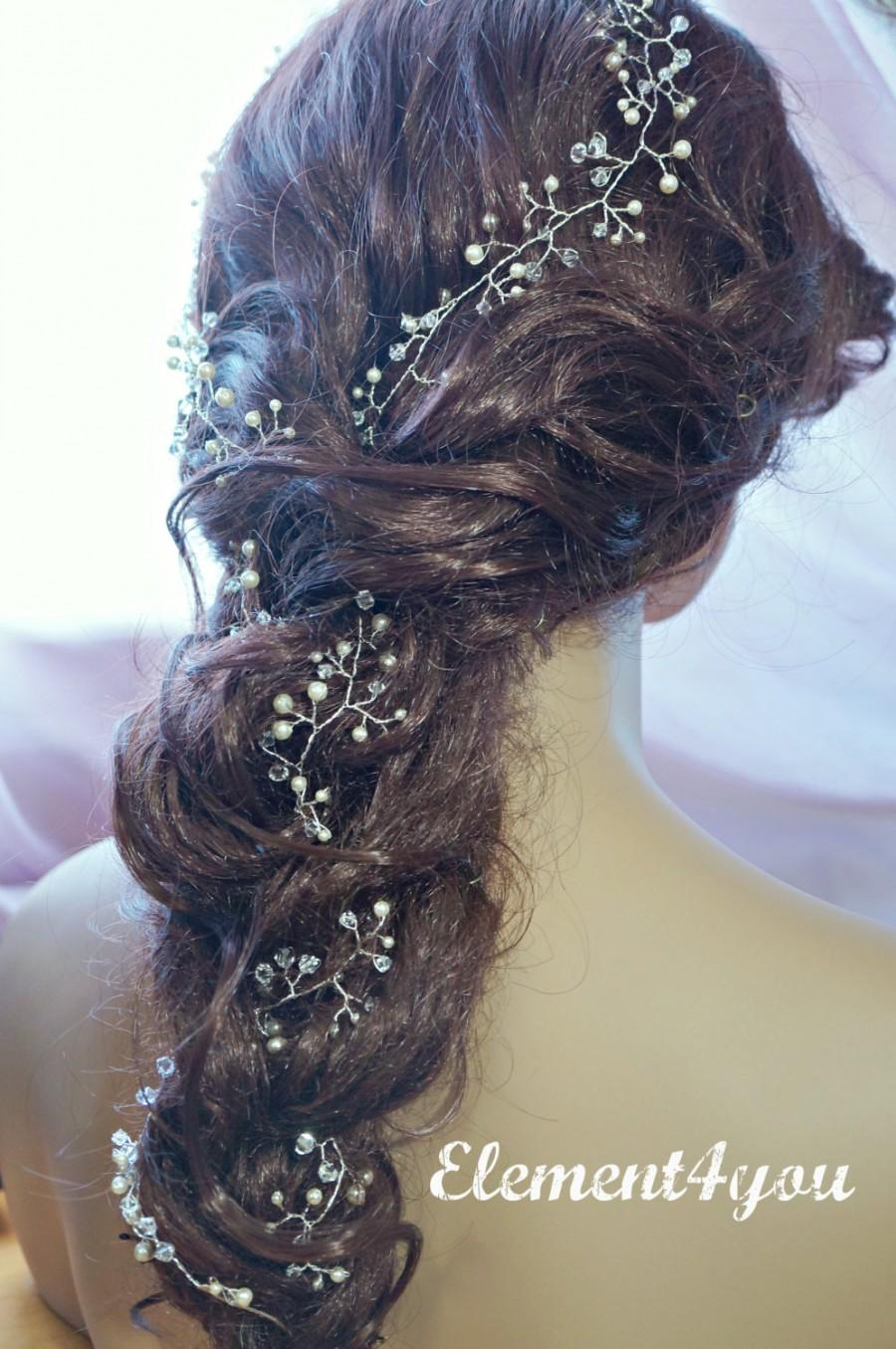 Bridal Hair Vines Extra Long Hair Vines Wedding Hair Vines Brides