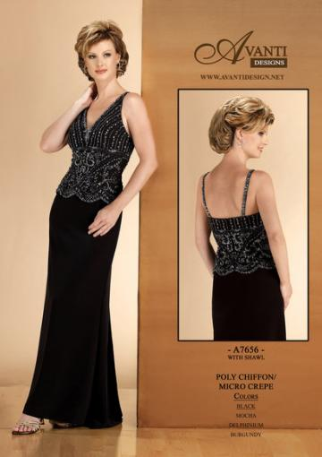 Hochzeit - Appliques Ruched Chiffon Black V-neck Sleeveless Floor Length