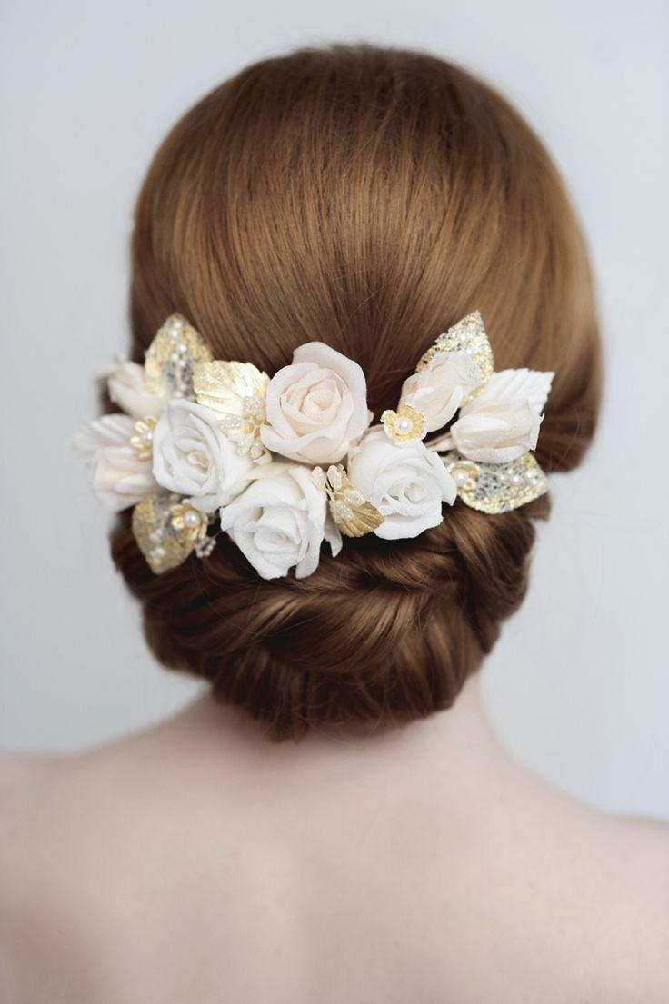 Свадьба - Introducing The Exquisite Floral Bridal Hair Adornments From Yelena Accessories -
