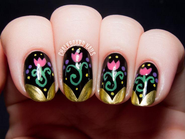 Свадьба - Anna Inspired Frozen Nail Art