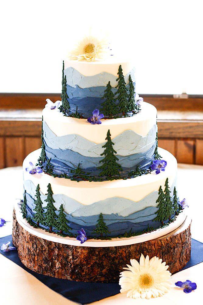 18 Must See Rustic Woodland Themed Wedding Cakes 2556115 Weddbook