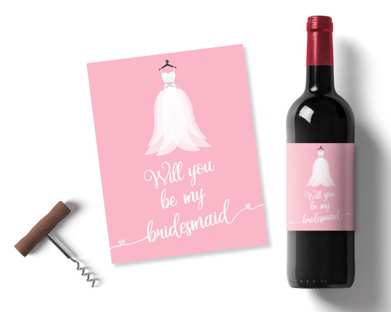Will You Be My Bridesmaid Wedding Favours Pink Bridesmaid Gift