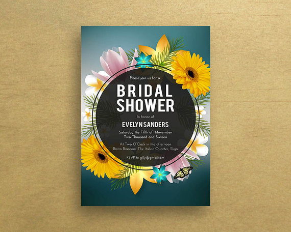Bridal Shower Invitations Sunflower Bridal Shower Invitation