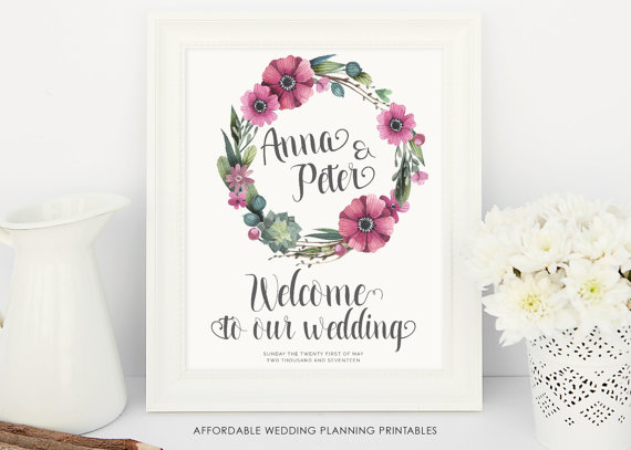 Welcome to our wedding sign wedding printables wedding decoration welcome to our wedding sign wedding printables wedding decoration wedding sign rustic weddings welcome sign wedding accessories junglespirit Gallery