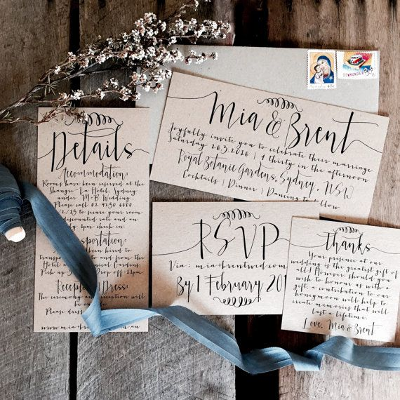 Wedding - Rustic Wedding Invitations, Wedding Invitation Suite, Wedding Invitations, Wedding Invitation