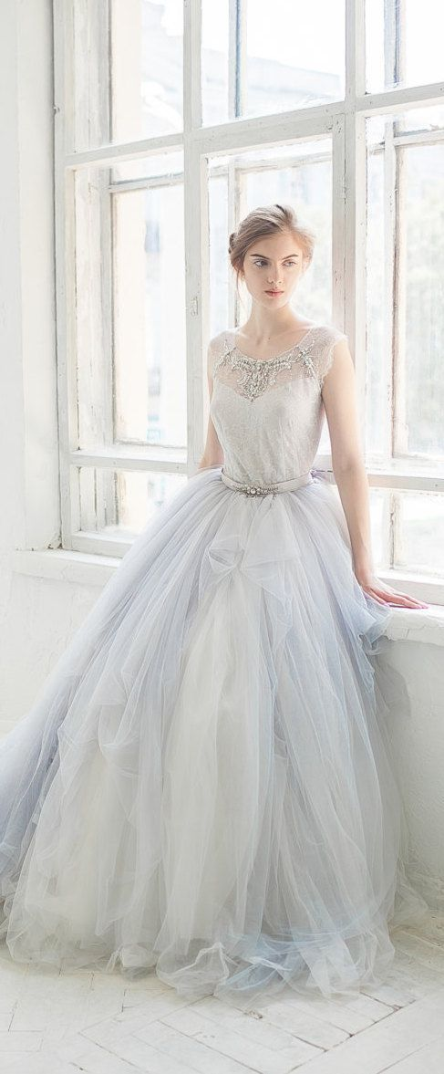 Tulle wedding gown gardenia 3 pieces bodysuit tulle for Tulle petticoat for wedding dress