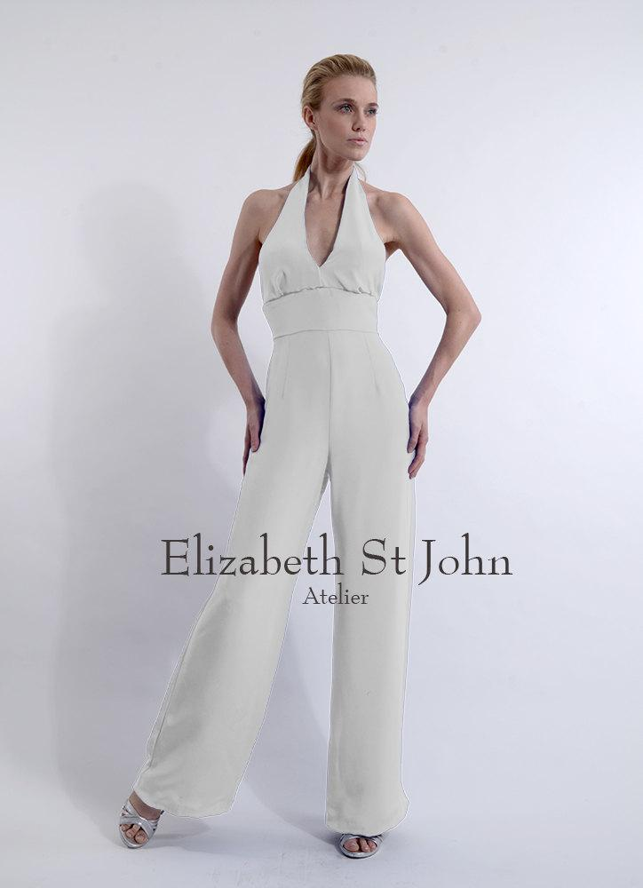 Dress sarah silk crepe bridal jumpsuit 2556461 weddbook - Jumpsuit hochzeit ...