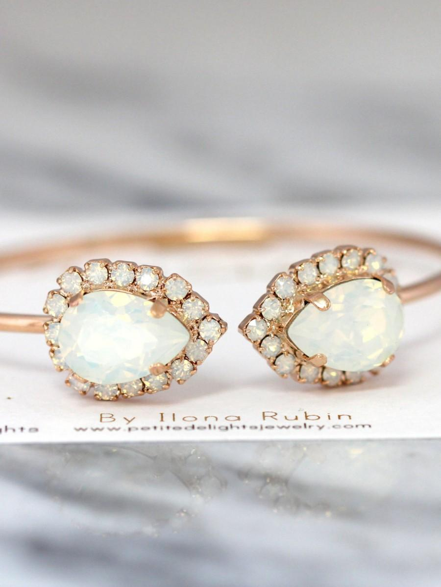 de open cuff bracelet opal with white products adjustable gold crystal cristal