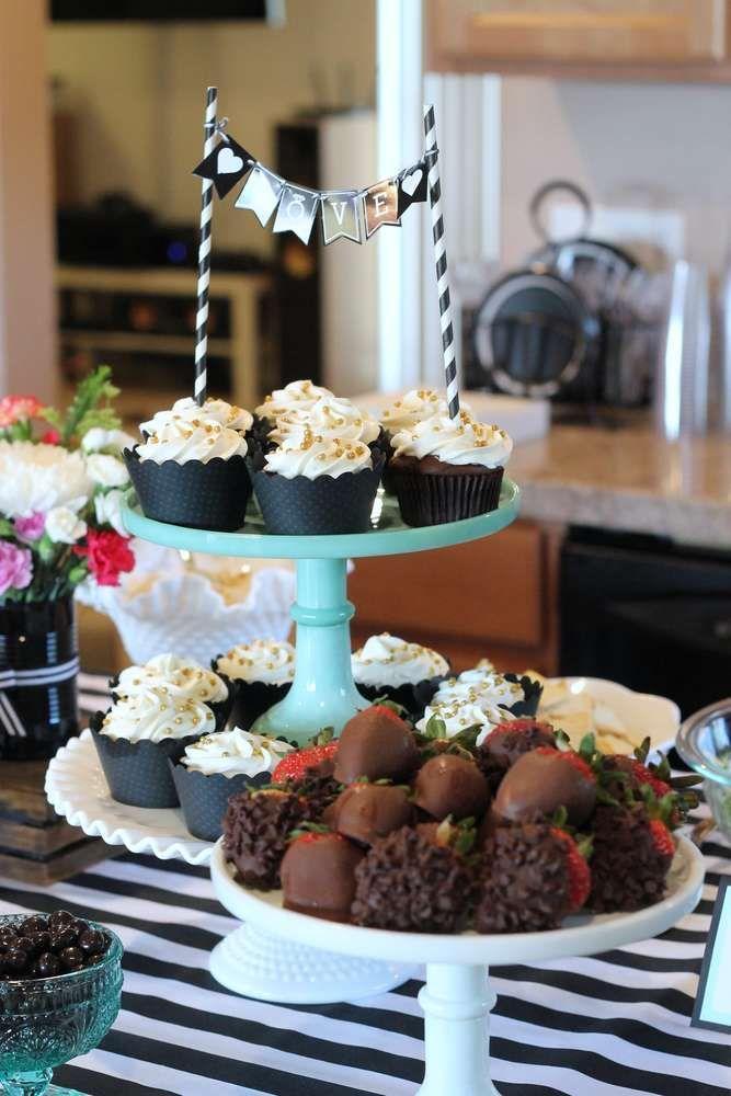 kate spade inspired champagne bar bridalwedding shower party ideas