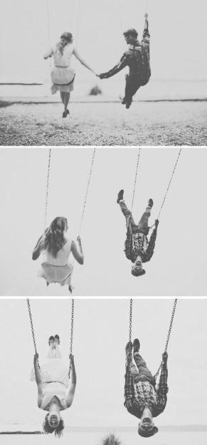 Mariage - Playful & Intimate Beach, Bicycles & Swings Engagement Shoot