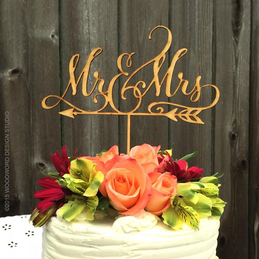 Hochzeit - Mr & Mrs arrow cake topper, Rustic Wedding Arrow Cake Topper, Mr and Mrs Wedding Cake Topper, Wedding Decor, Wedding Reception