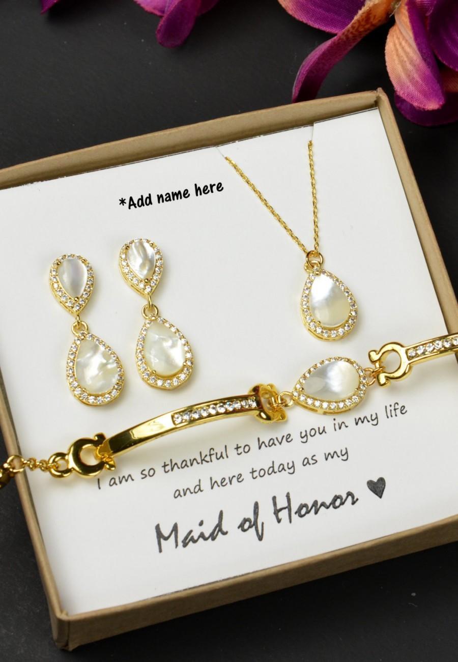 Свадьба - Pearl Wedding Jewelry Bridesmaid Gift Bridesmaid Jewelry Bridal Jewelry gold Drop Earrings Cubic Zirconia dangle Earrings ,bridesmaid gift