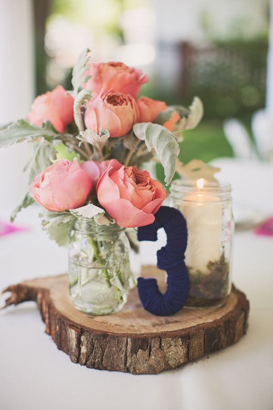 An Elegant Navy And Pink Wedding